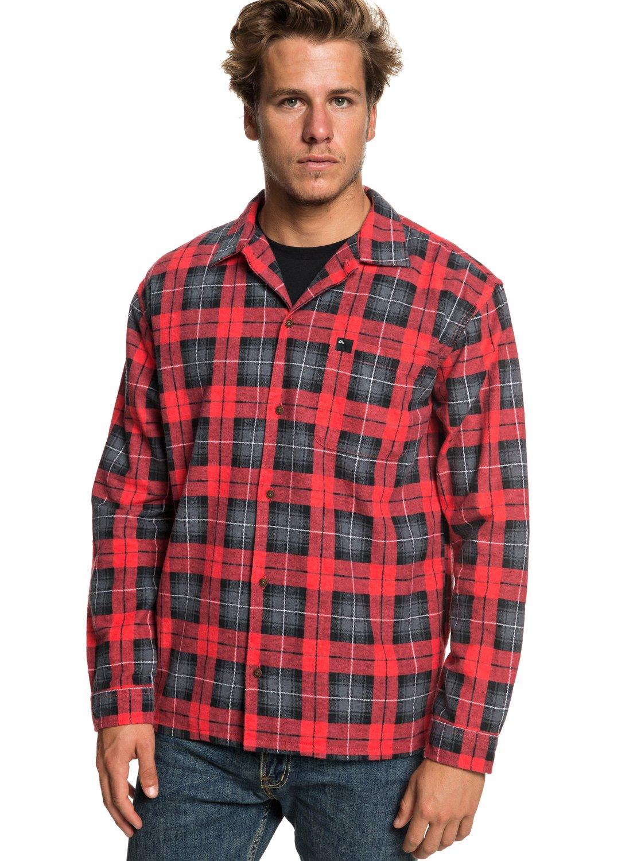 Flanellen Overhemd.Storm Warning Flanellen Overhemd Met Lange Mouwen Voor Heren