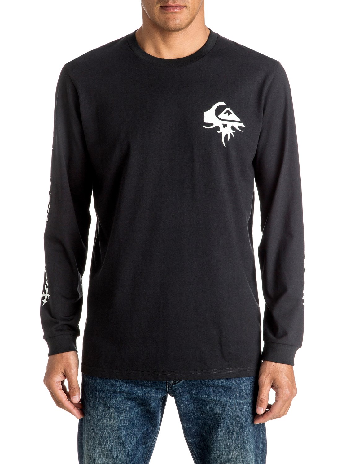 f580a2ed3b86 0 Born Thorny - Long Sleeve T-shirt Black EQYZT04271 Quiksilver
