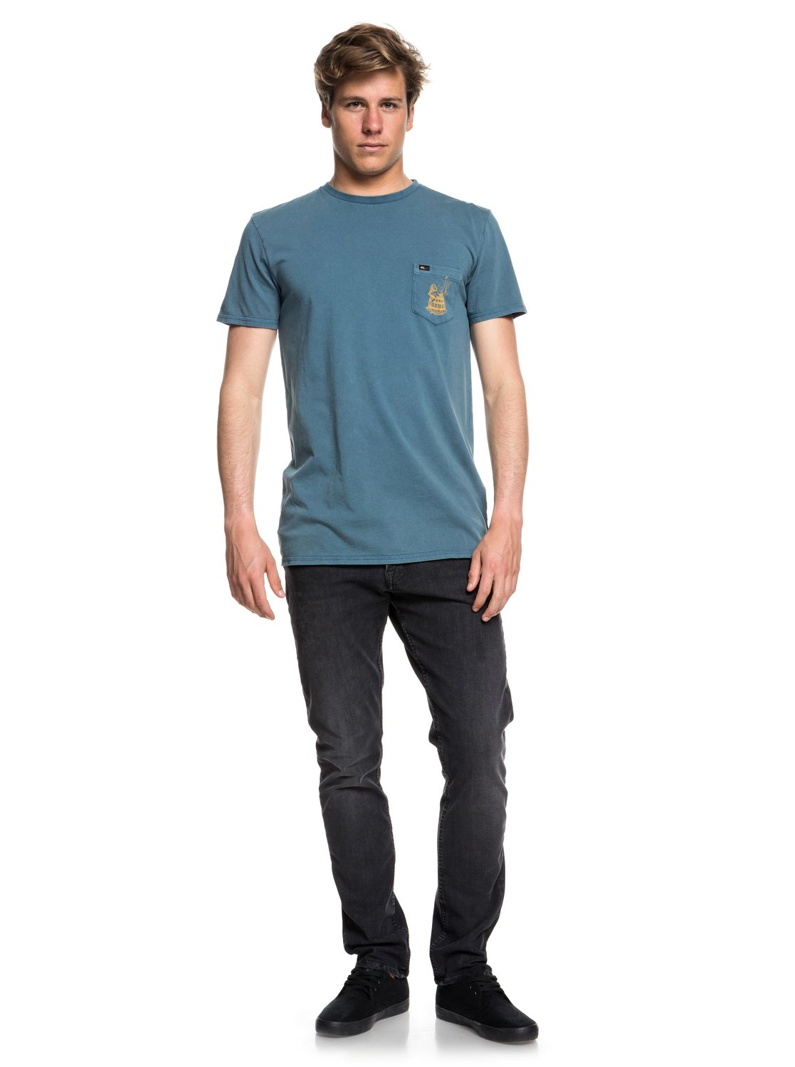 c82c53963fa 1 Gettin Barreled - T-Shirt for Men Blue EQYZT05001 Quiksilver