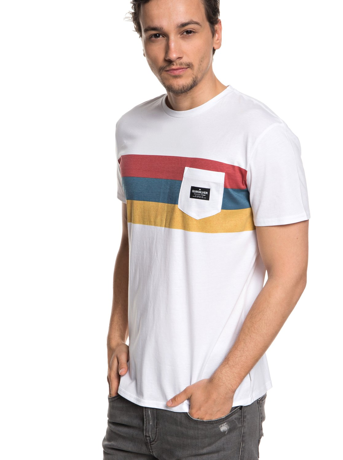 386d0270ce9ed 0 Peaceful Progression Pocket Tee White EQYZT05007 Quiksilver