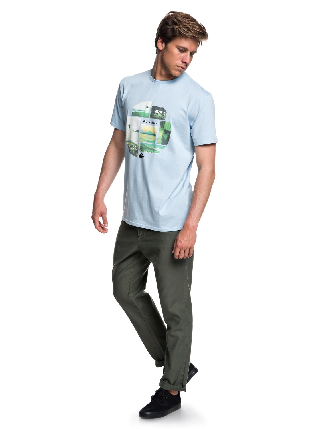 Quiksilver-Photo-Mix-Camiseta-para-Hombre-EQYZT05114 miniatura 2