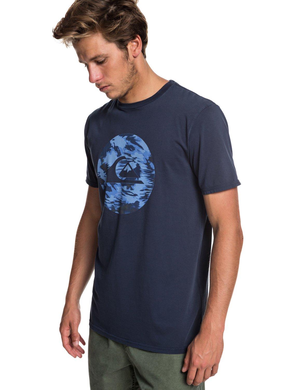 82544d2380eb51 0 Quik Circled - T-Shirt for Men Blue EQYZT05227 Quiksilver