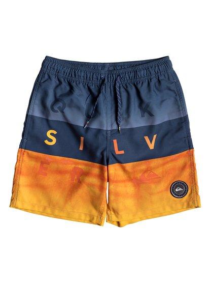 """Word Block 15"""" - Swim Shorts for Boys 8-16  EQBJV03200"""