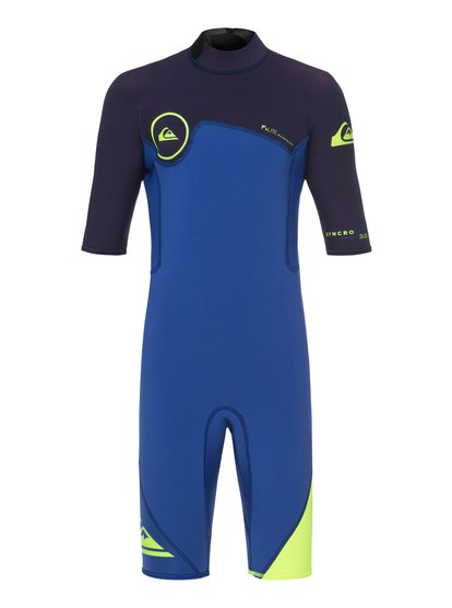 2/2mm Syncro Series - Short Sleeve Back Zip FLT Springsuit for Boys 8-16  EQBW503004