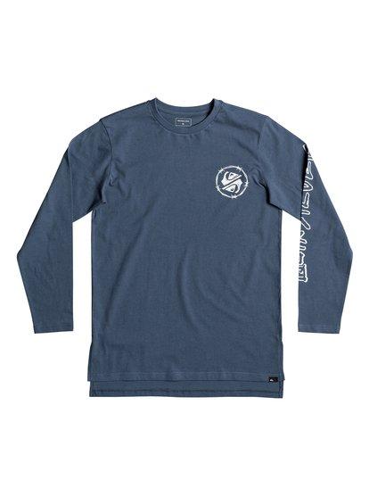 fadc8c29d6515 0 Critical Dates - T shirt manches longues pour Garçon 8-16 ans Bleu  EQBZT03683