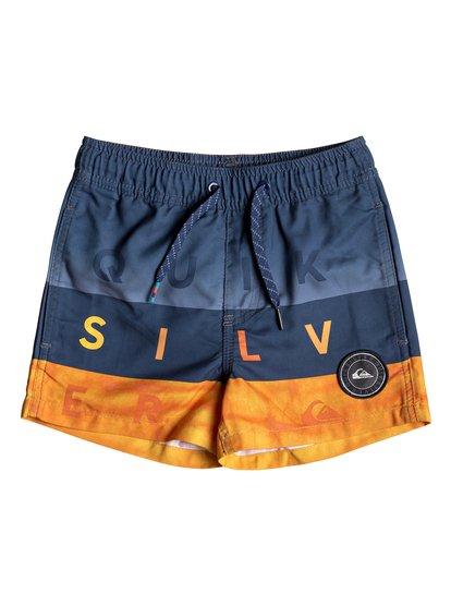 """Word Block 11"""" - Swim Shorts for Boys 2-7  EQKJV03066"""