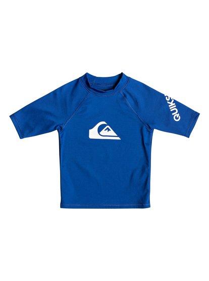 All Time - Short Sleeve UPF 50 Rash Vest for Boys 2-7  EQKWR03049