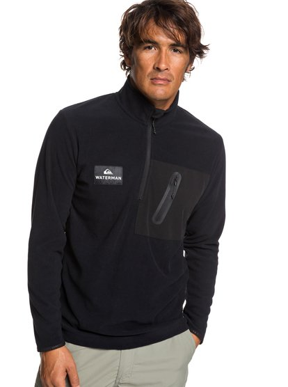Waterman Hidden View - Mock Neck Half-Zip Fleece for Men  EQMFT03034