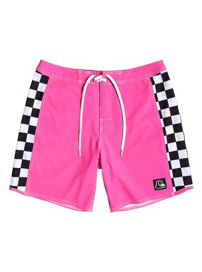 """Echo Beach Checker 18"""" - Board Shorts for Men  EQYBS04141"""