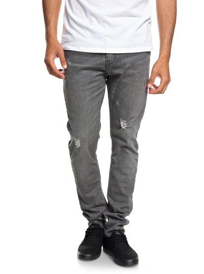 a22f103487294e Low Bridge Grey Damaged - Slim Fit Drop Crotch Jeans for Men EQYDP03371    Quiksilver