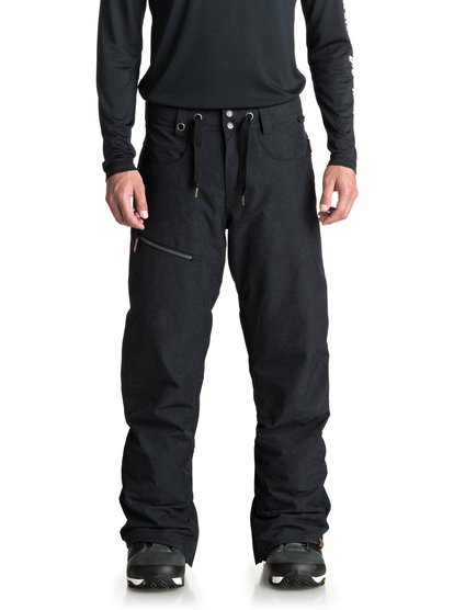 4e821f4053d55 0 Forest Oak - Shell Snow Pants for Men Black EQYTP03084 Quiksilver