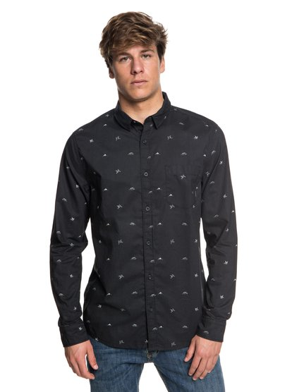 Fuji Mini Motif - Long Sleeve Shirt for Men  EQYWT03716