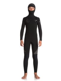c7ca9911725 5 4 3mm Syncro Series - Hooded Chest Zip GBS Wetsuit for Boys 8