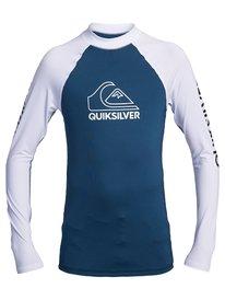 On Tour - Long Sleeve UPF 50 Rash Vest for Boys 8-16  EQBWR03130