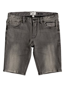 Distorsion Stone Grey - Denim Shorts for Boys 8-16  EQBDS03056