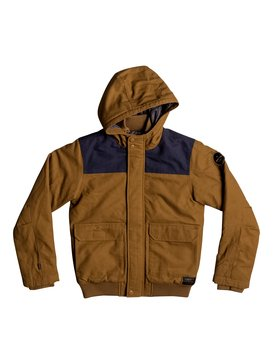 Brooks Island DWR - Water-Repellent Hooded Bomber Jacket for Boys 8-16  EQBJK03125