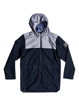 Hazards Rocks - Longline Water-Repellent Hooded Raincoat  EQBJK03185