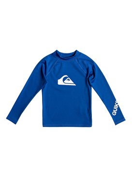 All Time - Long Sleeve UPF 50 Rash Vest for Boys 2-7  EQKWR03050