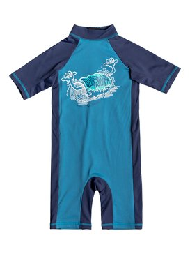 Spring - Short Sleeve UPF 50 One-Piece Rashguard for Boys 2-7  EQKWR03055