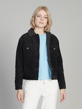 Quiksilver Womens - Corduroy Trucker Jacket for Women  EQWJK03002