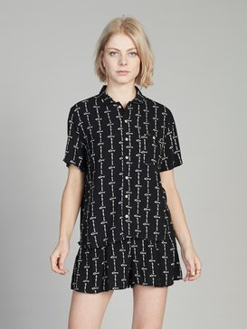 Quiksilver Womens - Short Sleeve Camp Shirt  EQWWT03014