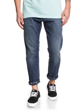 High Water Aged Blue - High Water Cropped Jeans  EQYDP03413