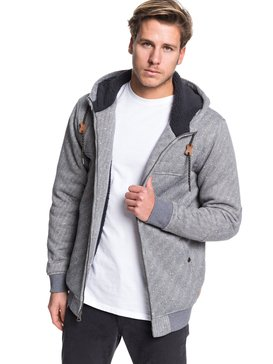 Cypress Keller - Sherpa-Lined Zip-Up Hoodie  EQYFT04008