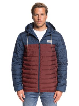 Scaly Block - Hooded Puffer Jacket  EQYJK03528