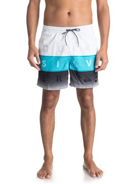 "Word Block 17"" - Swim Shorts for Men  EQYJV03300"