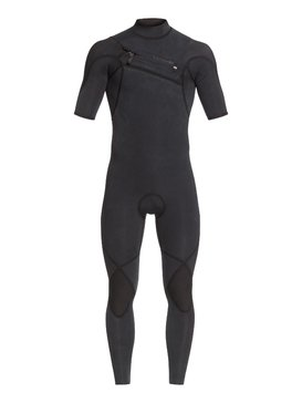 2/2mm Highline Ltd Monochrome - Short Sleeve Chest Zip Springsuit  EQYW303010