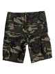 "1 Boy's 8-16 Crucial Battle 18"" Cargo Shorts Green EQBWS03226 Quiksilver"