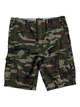 "0 Boy's 8-16 Crucial Battle 18"" Cargo Shorts Green EQBWS03226 Quiksilver"