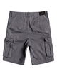 "1 Boy's 8-16 Crucial Battle 18"" Cargo Shorts Black EQBWS03226 Quiksilver"