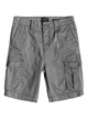"0 Boy's 8-16 Crucial Battle 18"" Cargo Shorts Black EQBWS03226 Quiksilver"