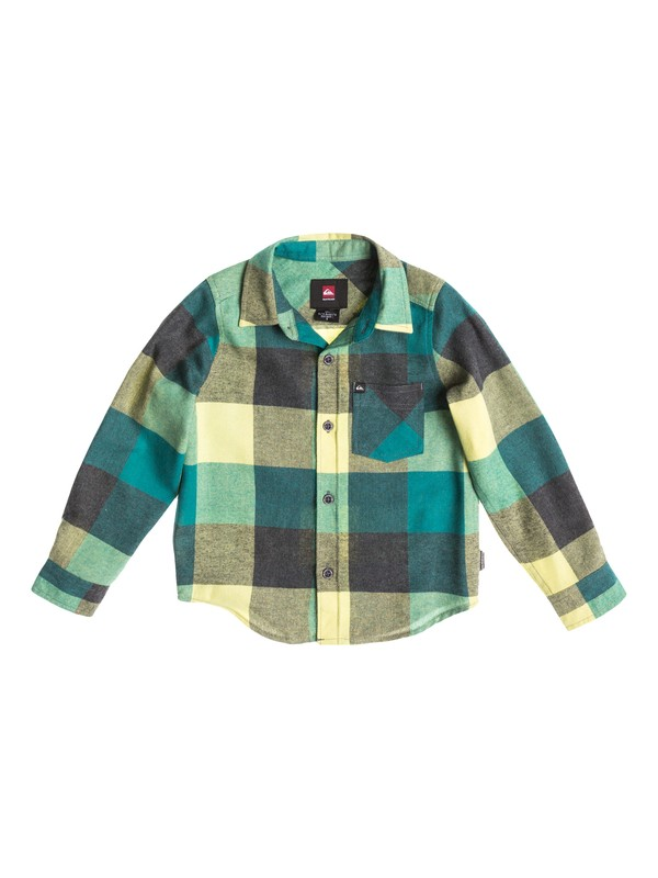 0 Boys 4-7 Box Plaid Long Sleeve Shirt  40454036 Quiksilver