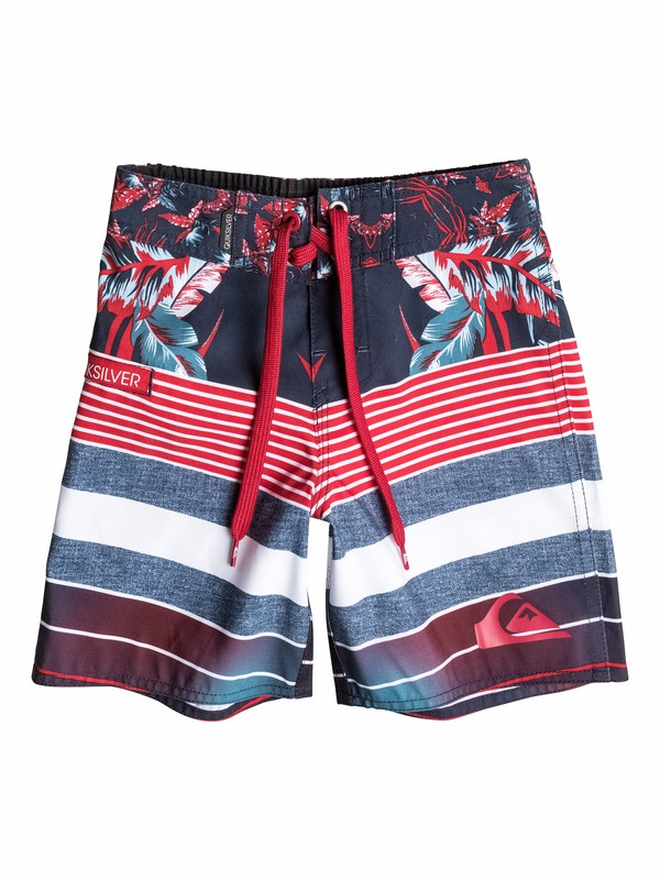 0 Boys 2-4 YG Remix Stripe Boardshorts  40545082 Quiksilver