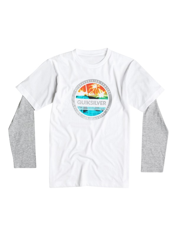 0 Boys 4-7 Filled In Long Sleeve T-Shirt  40654148 Quiksilver