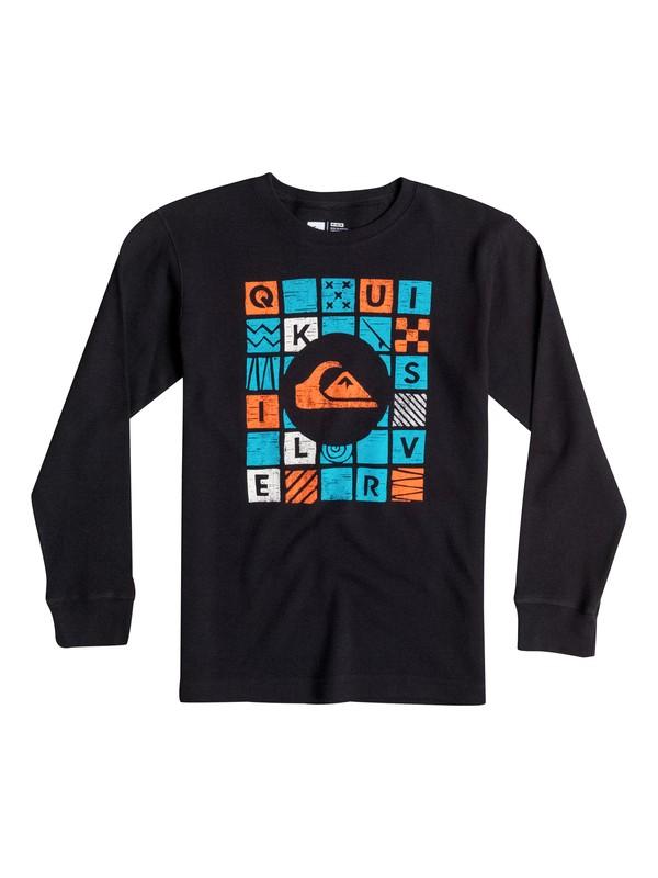 0 Boys 4-7 Squared Long Sleeve T-Shirt  40654151 Quiksilver