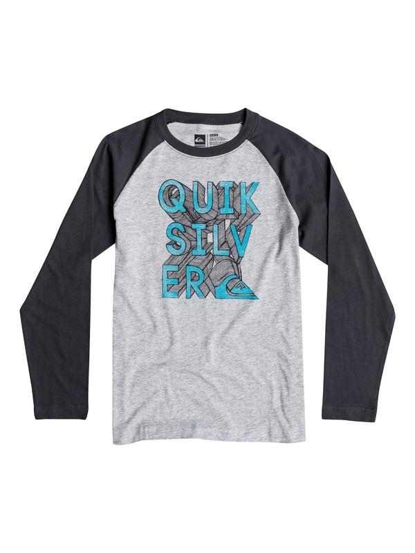 0 Boys 8-16 3D-Ish Long Sleeve T-Shirt  40664194 Quiksilver