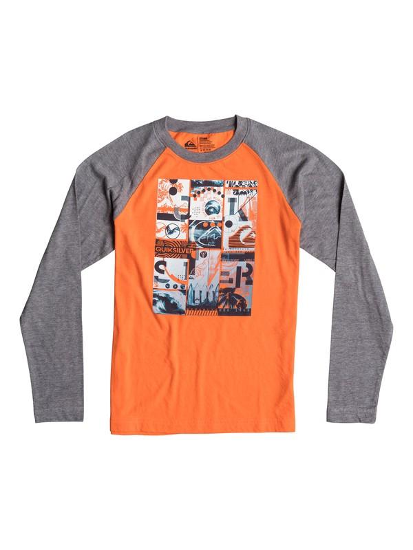0 Boys 8-16 Multi Image Long Sleeve T-Shirt  40664195 Quiksilver