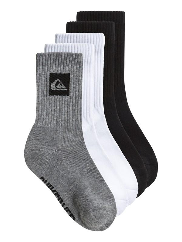 0 Boys 8-16 Legacy Crew Socks 5 Pack  AQBAA00024 Quiksilver