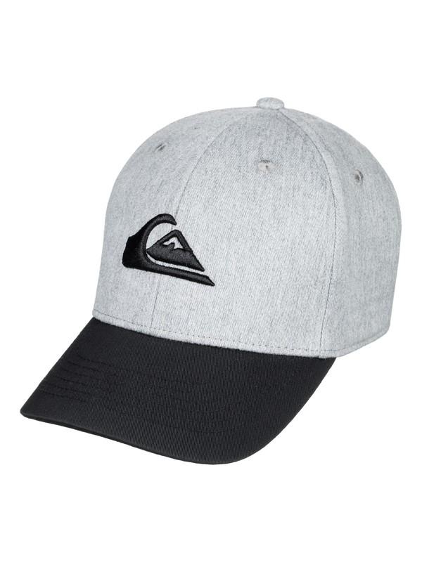 0 Boy's 8-16 Decades Snapback Hat Grey AQBHA03224 Quiksilver