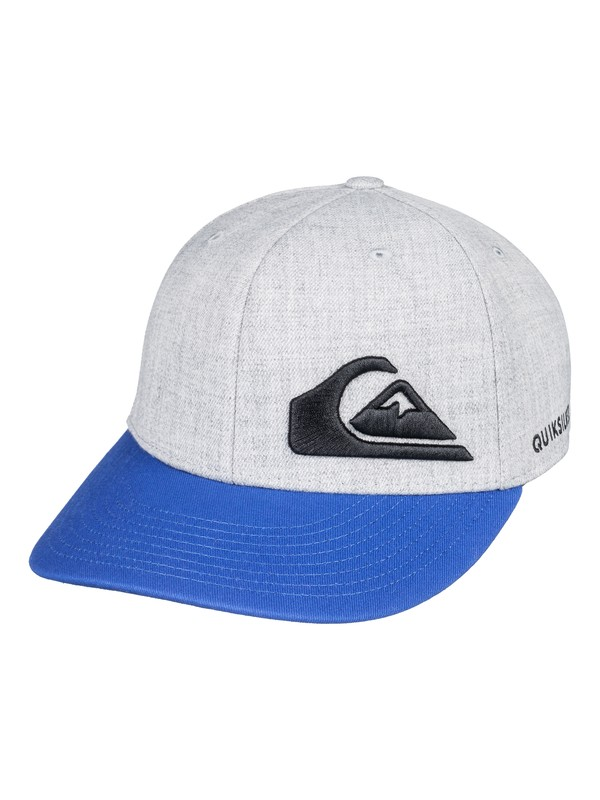 0 Boy's 8-16 Final Flexfit Hat Grey AQBHA03280 Quiksilver