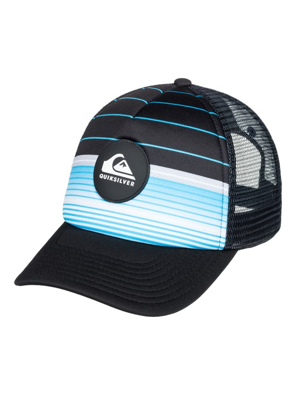 0 Boy's 8-16 Highline Swell Trucker Hat Blue AQBHA03320 Quiksilver