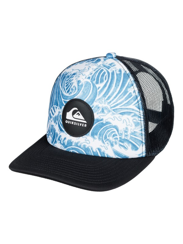 0 Boy's 8-16 Crackles Trucker Hat Blue AQBHA03321 Quiksilver