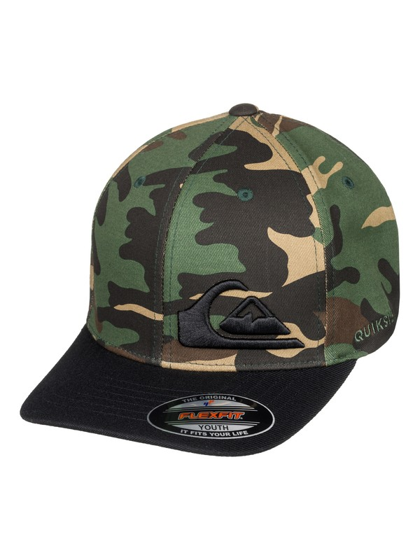 0 Boy's 8-16 Final Flexfit® Hat Green AQBHA03334 Quiksilver