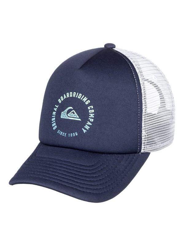 0 Boy's 8-16 Beast Model Trucker Hat Blue AQBHA03337 Quiksilver
