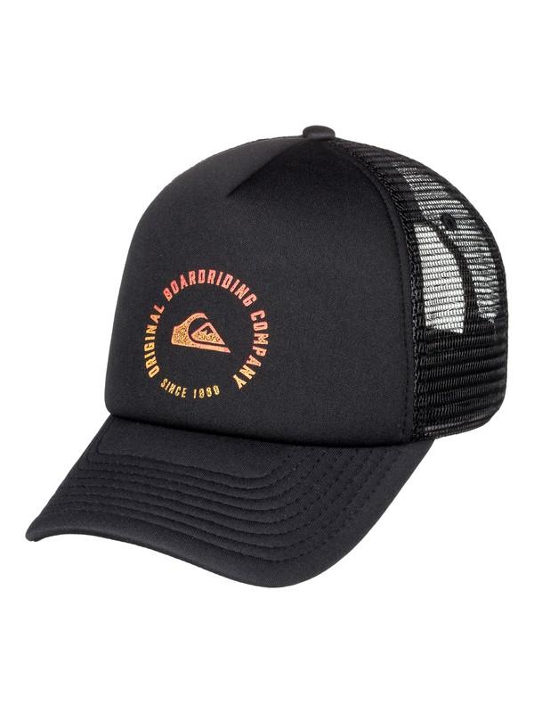 0 Boy's 8-16 Beast Model Trucker Hat Black AQBHA03337 Quiksilver