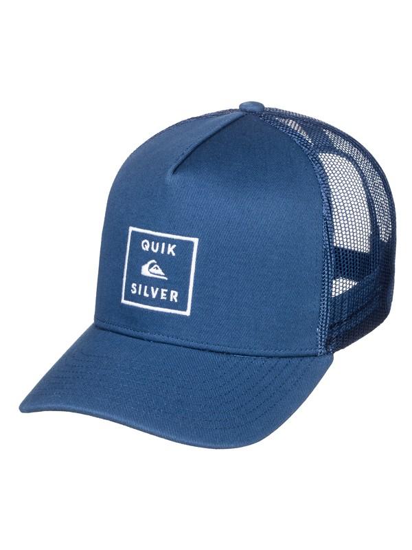 0 Boy's 8-16 Clipster Trucker Hat Blue AQBHA03340 Quiksilver