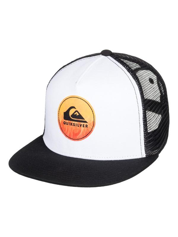 0 Boy's 8-16 Bombastic Trucker Hat White AQBHA03354 Quiksilver